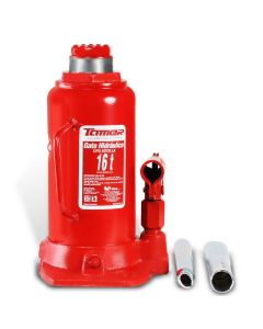 Gato hidráulico de botella con tornillo de extensión 16 t