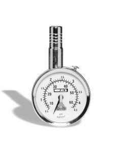 Calibrador de carátula profesional HD cromado rango 0-160 psi