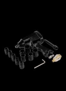 """Pistola de impacto neumática (1/2"""", 320 lb/ft) con dados"""
