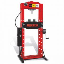 Prensa hidroneumática con pistón y manómetro 30 ton