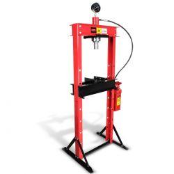Prensa hidroneumática con pistón y manómetro 20 ton