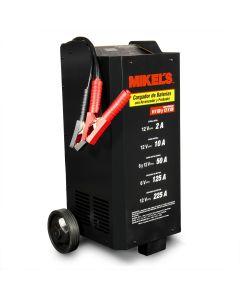 Cargador baterías con arrancador, probador y amperímetro (2/10/50/125/225 amp)