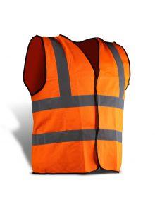 Chaleco de seguridad reflejante naranja