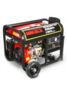 Generador de corriente eléctrica motor 4 tiempos con soldadora (5,500 W / 15 HP)