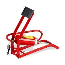 Bomba de aire con pedal de cilindro sencillo
