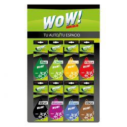 Exhibidor WOW (Incluye 8 aromas distintos con 10 pzas c/u)