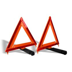 "Triángulos reflejantes con bolsa de vinil 17"" (1 Par)"