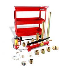 Porto power 20 ton caja metálica (Incluye carrito de servicio)