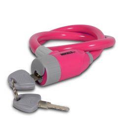 Cable candado flexible rosa