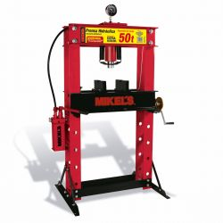 Prensa hidráulica con pistón y manómetro 50 ton