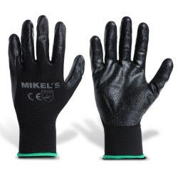 Guantes para trabajo de nylon con espuma de nitrilo (M)