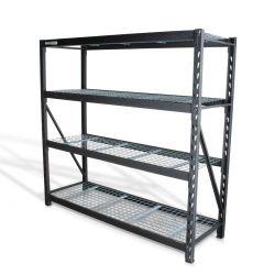 """Estante para almacenaje metálico industrial (77""""x24"""") 4 repisas, 2500 kg"""