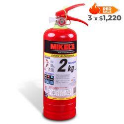 Extintor de emergencia recargable 2 kg